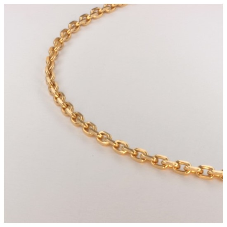Collier chaîne forçat limée massive ~2.4mm ~46.5cm