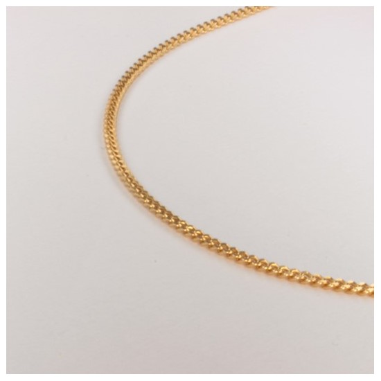 Necklace massive filed curb chain ~1.55mm ~39.5cm