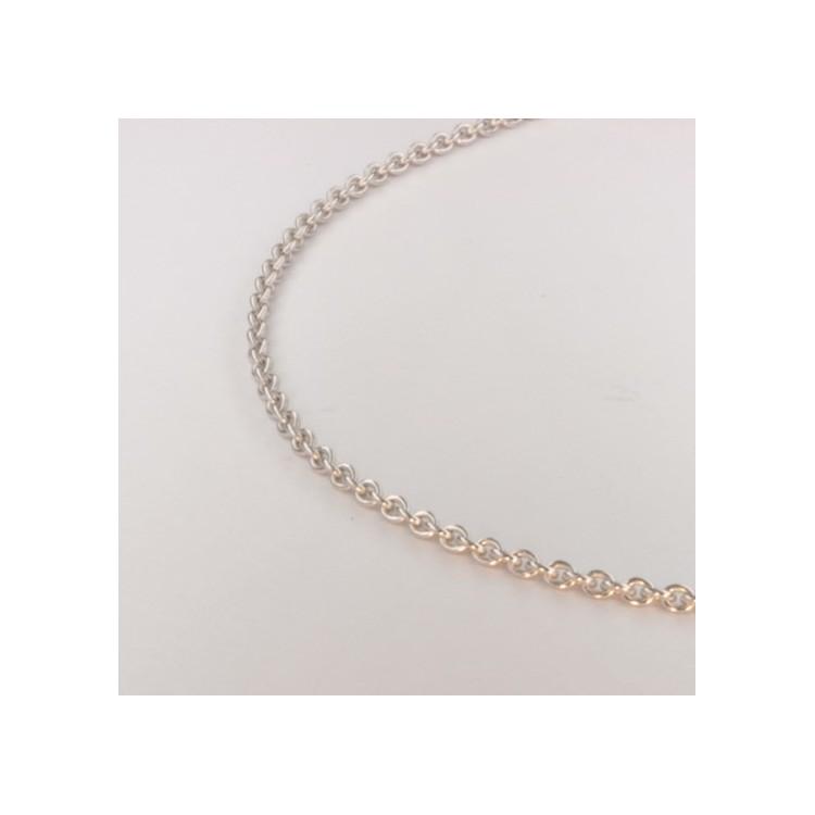 Collier chaîne forçat ronde massive ~1.85mm ~41cm