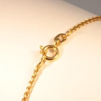 Necklace massive plait-chain ~1.65mm ~45cm