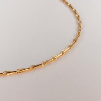 Necklace massive barley corn chain ~1.6mm ~50.5cm