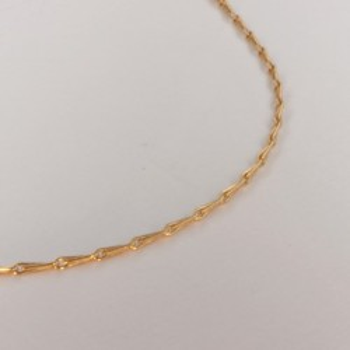 Necklace massive barley corn chain ~1.2mm ~40cm