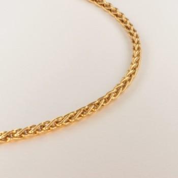 Necklace massive plait-chain ~2.3mm ~46cm