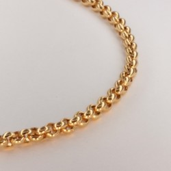Necklace massive belcher chain ~3.4mm ~40.5cm