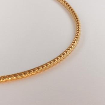 Necklace massive foxtail chain ~2.2mm ~46.5cm
