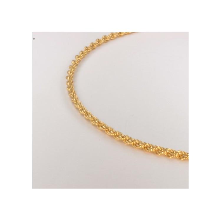 Necklace massive triple rope chain ~2.1mm ~46cm
