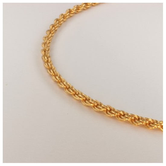 Necklace massive triple rope chain ~2.4mm ~45.5cm