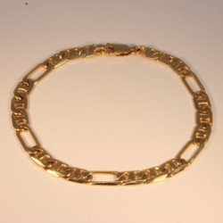 Bracelet massive figaro chain ~6.3mm ~21.5cm