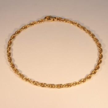 Bracelet chaîne forçat double massive ~3.0mm ~20.5cm