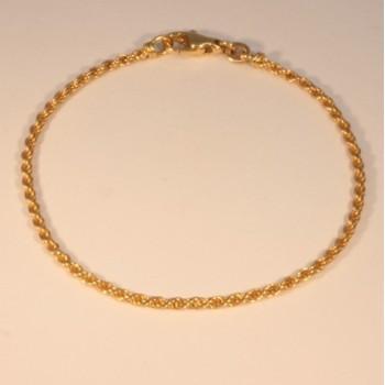 Bracelet massive triple rope chain ~2.0mm ~17.5cm