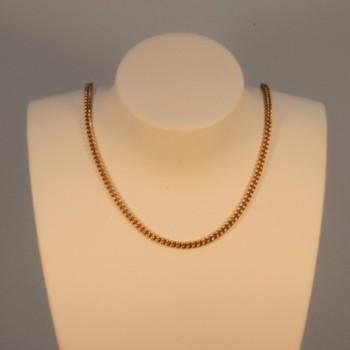 Necklace massive round curb chain  ~2.2mm ~43cm