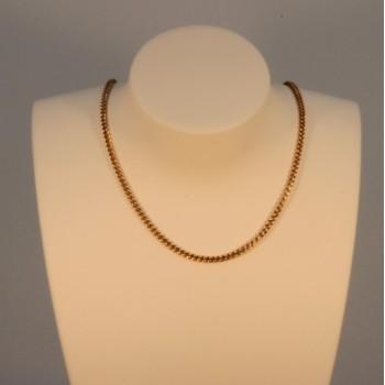 Necklace massive round curb chain ~1.8mm ~45cm
