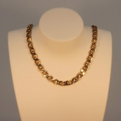 Necklace massive curbed anchor chain ~4.5mm ~45cm
