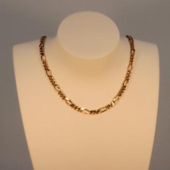 Necklace massive figaro chain ~2.8mm ~46cm
