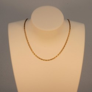 Necklace massive fancy curb chain ~1.4mm ~40cm