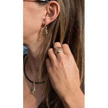 Boucles d'oreilles ORITAGE Rose