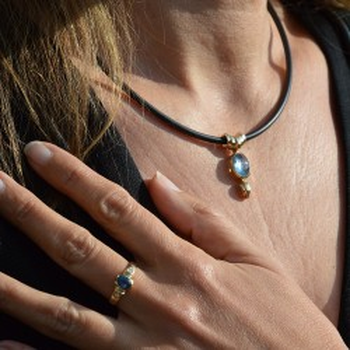 Aigue-marine Bleu ring