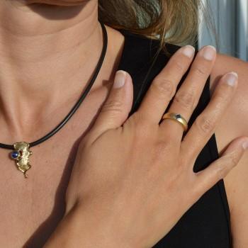 Saphir Bleu Ring