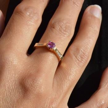 Rubis Rose Ring