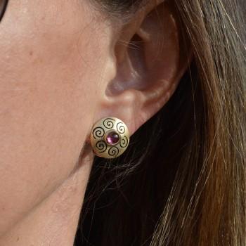 Boucles d'oreilles ORIMOON Rose