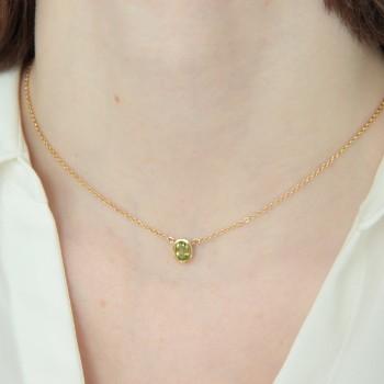 Collier pendentif Péridot Vert ~37cm