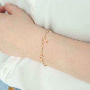 Bracelet massive coeur chain