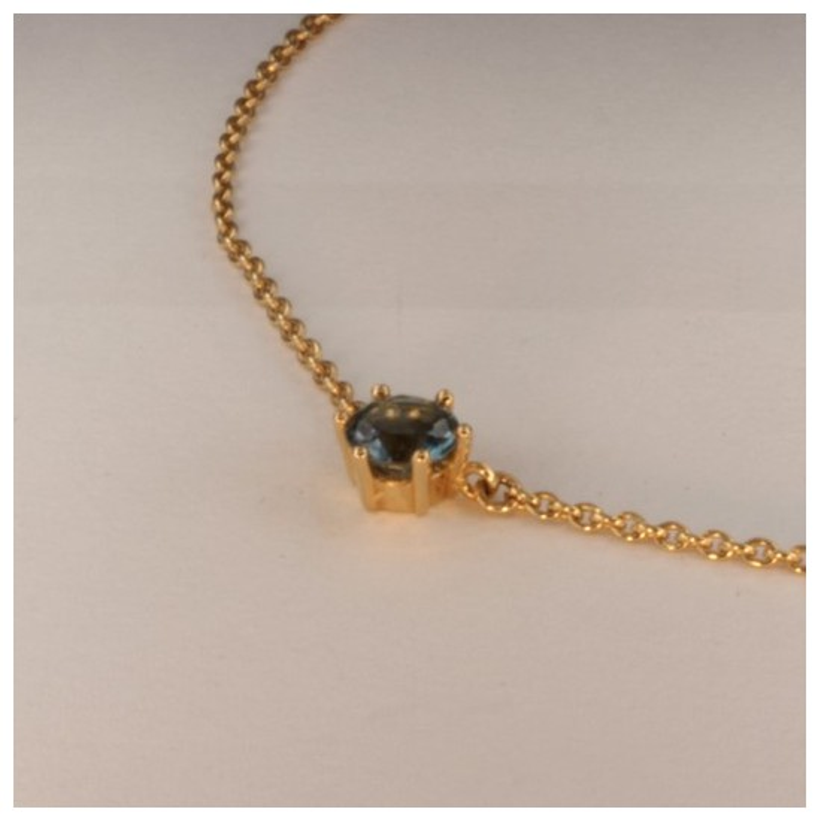 Aigue-marine Bleu Halskette Anhänger ~38.5cm