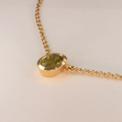 Green Peridot Necklace Pendant ~37cm