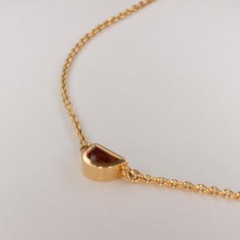 Collier pendentif Quartz Madère ~38cm