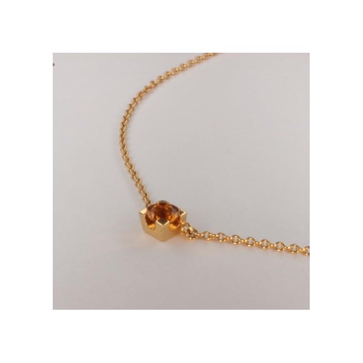 Citrine Jaune Halskette Anhänger ~39.5cm