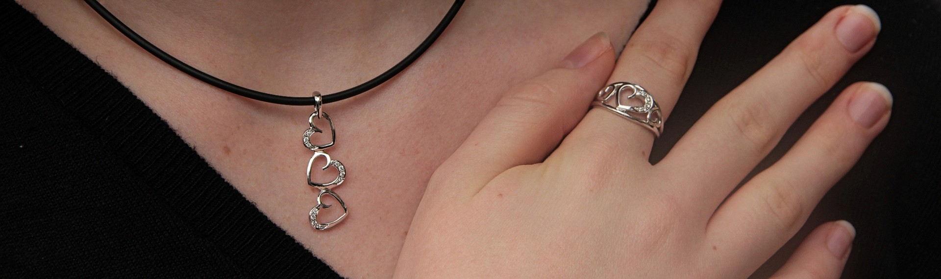 Duo Pendant and ring ORILOVE Brilliant